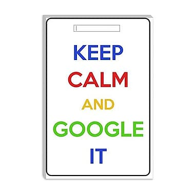 iCanvas Keep Calm and Google It Textual Art on Canvas; 26'' H x 18'' W x 1.5'' D