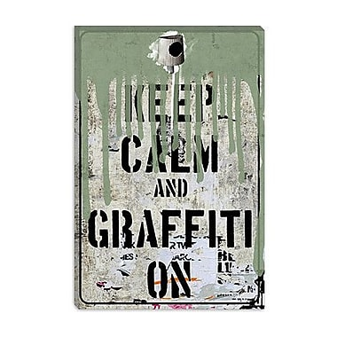 iCanvas Keep Calm and Graffiti on Graphic Art on Canvas; 40'' H x 26'' W x 1.5'' D