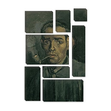 iCanvas 'Head of a Man' by Vincent Van Gogh Painting Print on Canvas; 12'' H x 8'' W x 0.75'' D
