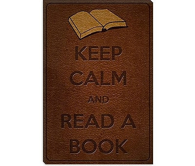 iCanvas Keep Calm and Read a Book Graphic Art on Canvas; 18'' H x 12'' W x 0.75'' D