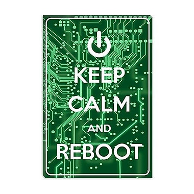 iCanvas Keep Calm and Reboot Graphic Art on Canvas; 12'' H x 8'' W x 0.75'' D
