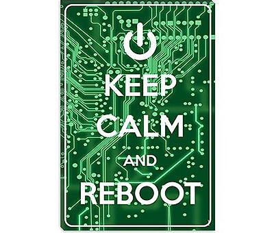 iCanvas Keep Calm and Reboot Graphic Art on Canvas; 26'' H x 18'' W x 0.75'' D