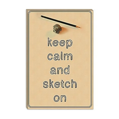iCanvas Keep Calm and Sketch on Graphic Art on Canvas; 40'' H x 26'' W x 1.5'' D