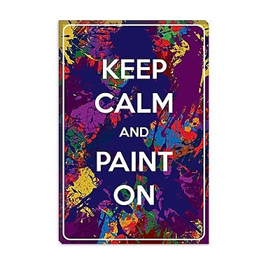 iCanvas Keep Calm and Paint On Graphic Art on Canvas; 18'' H x 12'' W x 0.75'' D