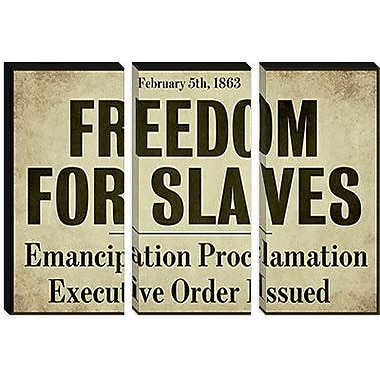 iCanvas 'Emancipation' by Color Bakery Textual Art on Canvas; 18'' H x 26'' W x 0.75'' D