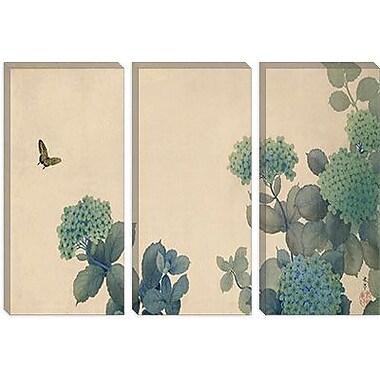 iCanvas 'Hydrangeas' by Hishida Shunso Graphic Art on Canvas; 12'' H x 18'' W x 0.75'' D