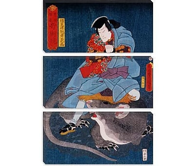 iCanvas 'Japanese Ichikawa Ichizo' by Kunisada (Toyokuni) Graphic Art on Canvas