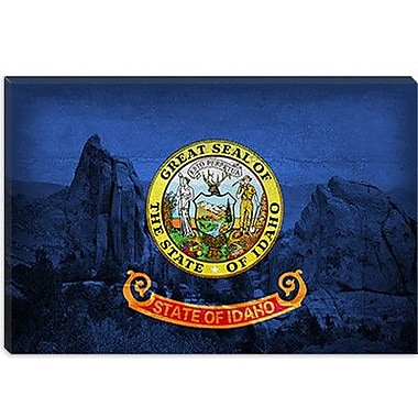 iCanvas Idaho Flag, City of Rock Graphic Art on Canvas; 18'' H x 26'' W x 1.5'' D