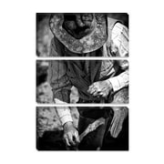 iCanvas 'Cowboy and His Hat' by Dan Ballard Photographic Print on Canvas; 26'' H x 18'' W x 0.75'' D
