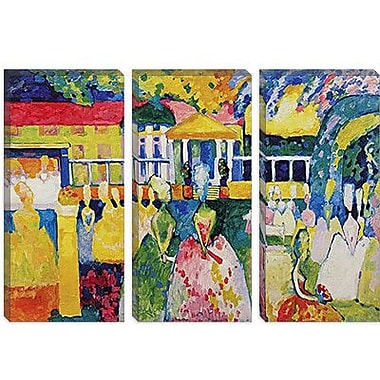 iCanvas 'Crinolines' by Wassily Kandinsky Painting Print on Canvas; 26'' H x 40'' W x 0.75'' D