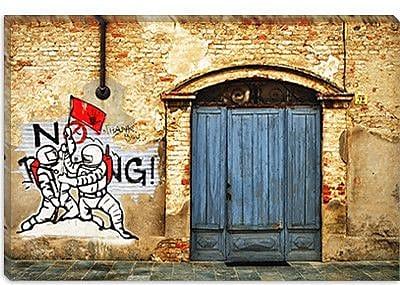 iCanvas ''No Parking'' by Luz Graphics Graphic Art on Canvas; 18'' H x 26'' W x 0.75'' D
