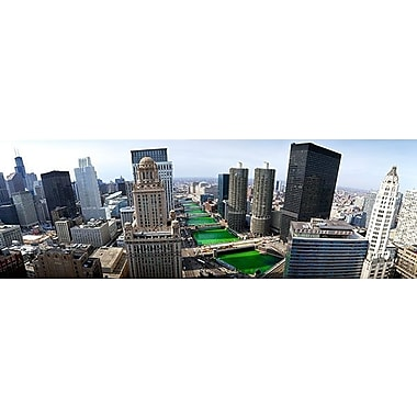 iCanvas Panoramic 'St. Patrick's Day Chicago IL' Photographic Print on Canvas