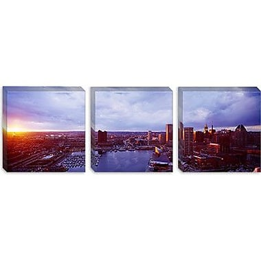 iCanvas Panoramic Baltimore Maryland Photographic Print on Canvas; 16'' H x 48'' W x 0.75'' D