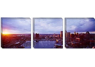 iCanvas Panoramic Baltimore Maryland Photographic Print on Canvas; 24'' H x 72'' W x 1.5'' D