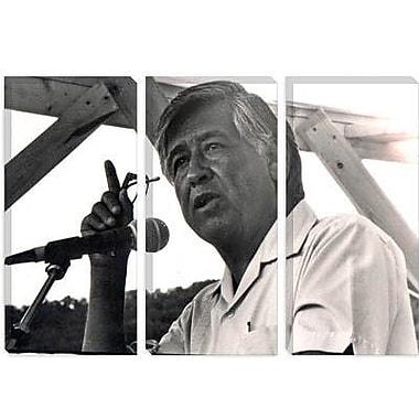 iCanvas Political Cesar Chavez Portrait Photographic Print on Canvas; 40'' H x 60'' W x 1.5'' D