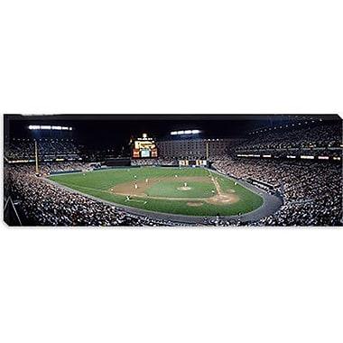 iCanvas Panoramic Baseball Game Camden Yards Baltimore, MD Photographic Print on Canvas