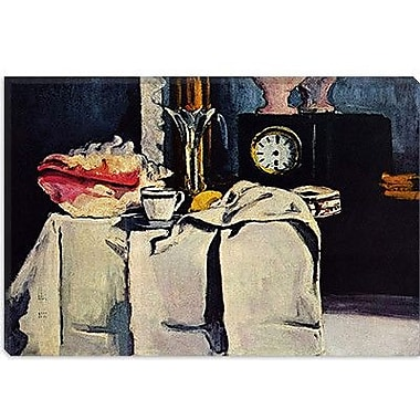 iCanvas 'The Black Clock' by Paul Cezanne Painting Print on Canvas; 26'' H x 40'' W x 0.75'' D