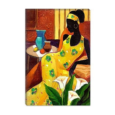 iCanvas ''The Blue Vase'' by Keith Mallett Painting Print on Canvas; 26'' H x 18'' W x 0.75'' D