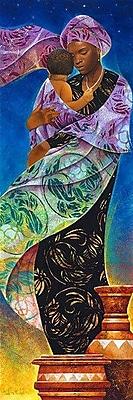 iCanvas ''Usiku, Night'' by Keith Mallett Graphic Art on Canvas; 48'' H x 16'' W x 0.75'' D