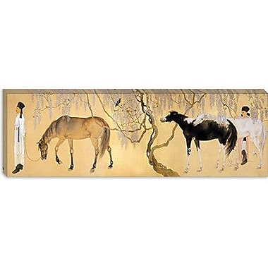 iCanvas Japanese ''Visiting a Hermit'' by Hashimoto Kansetsu Painting Print on Canvas