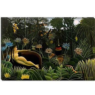 iCanvas 'The Dream 1910' by Henri Rousseau Painting Print on Canvas; 18'' H x 26'' W x 1.5'' D