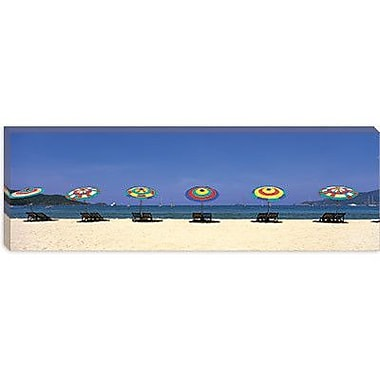 iCanvas Panoramic Beach Phuket Thailand Photographic Print on Canvas; 24'' H x 72'' W x 1.5'' D