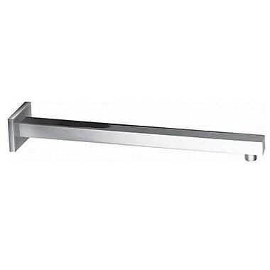 Elements of Design 15.7'' Brass Square Shower Arm; Polished Chrome