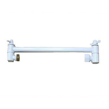 Elements of Design Bostonian 10'' Adjustable Shower Arm; White
