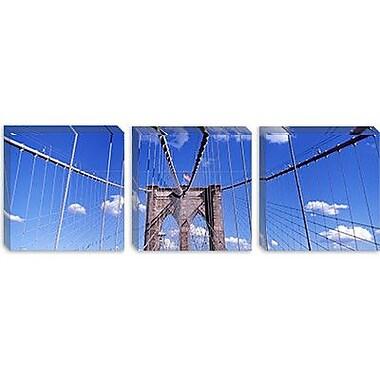 iCanvas Panoramic Brooklyn Bridge, New York Photographic Print on Canvas; 16'' H x 48'' W x 0.75'' D