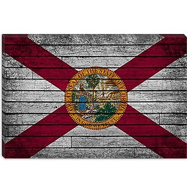 iCanvas Florida Flag, Grunge Graphic Art on Canvas; 18'' H x 26'' W x 0.75'' D