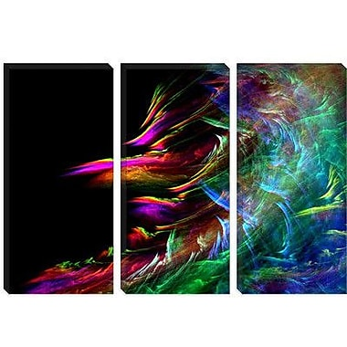 iCanvas Digital Fire Waive Graphic Art on Canvas; 18'' H x 26'' W x 0.75'' D