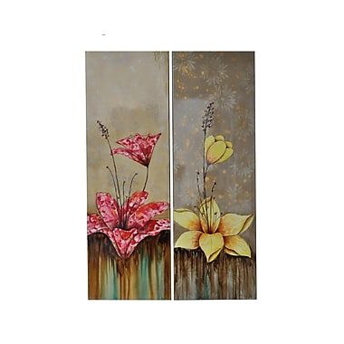 Crestview Propriety Painting Print on Canvas Set (Set of 2)