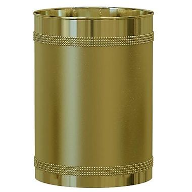NU Steel Ferruccio 2.25 Gallon Waste Basket; Gold