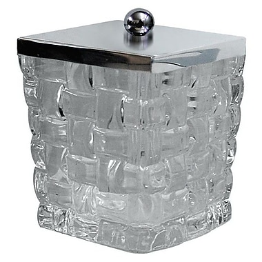 NU Steel Basket Weave Container; White
