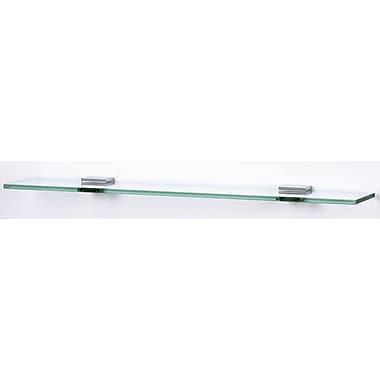 Alno Contemporary II 18'' W Bathroom Shelf; Polished Chrome