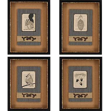 Paragon Le Foret by Congdon 4 Piece Framed Graphic Art Set