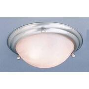 Volume Lighting Lunar 3-Light Ceiling Fixture Flush Mount; Brushed Nickel