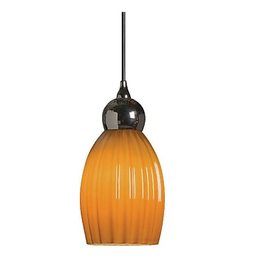 Radionic Hi Tech Vietra 1-Light Mini Pendant; Amber