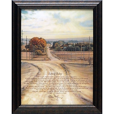 Artistic Reflections Living Today by Bonnie Mohr Framed Graphic Art; 15'' H x 29'' W x 3'' D