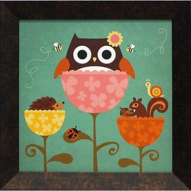 Artistic Reflections Owl, Squirrel and Hedgehog in Flowers by Lee, Nancy Framed Graphic Art