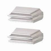 Alno Geometric Shelf Brackets Only; Satin Nickel