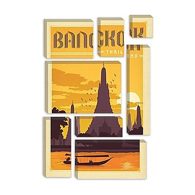 iCanvas Anderson Design Group Panoramic 'WT Bangkok' Vintage Advertisement on Canvas