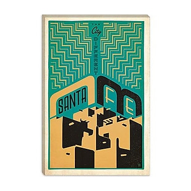 iCanvas 'The City Different - Santa Fe' by Anderson Design Group Vintage Advertisement on Canvas