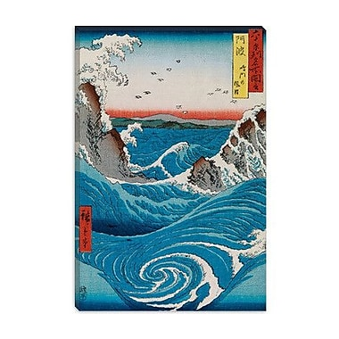 iCanvas 'The Crashing Waves' by Katsushika Hokusai Graphic Art on Canvas; 12'' H x 8'' W x 0.75'' D