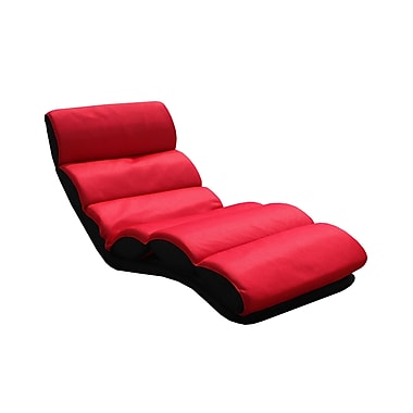 InRoom Designs Folding Lounge Chair; Red