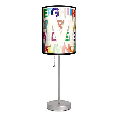 Lamp-In-A-Box Monograms Modern Letter 20'' Table Lamp; M