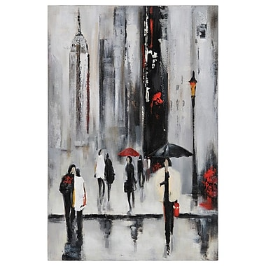 Ren-Wil Bustling City I by Dominic Lecavalier Painting Print