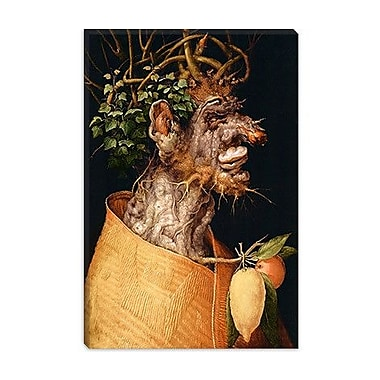 iCanvas Winter by Giuseppe Arcimboldo Painting Print on Canvas; 26'' H x 18'' W x 0.75'' D