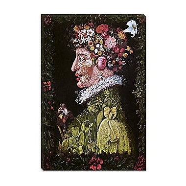 iCanvas 'Spring' by Giuseppe Arcimboldo Painting Print on Canvas; 18'' H x 12'' W x 1.5'' D