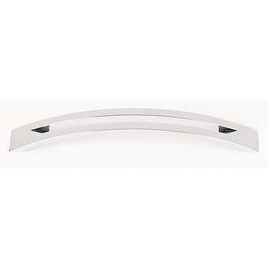 Alno Split Top 6'' Center Arch Pull; Polished Chrome